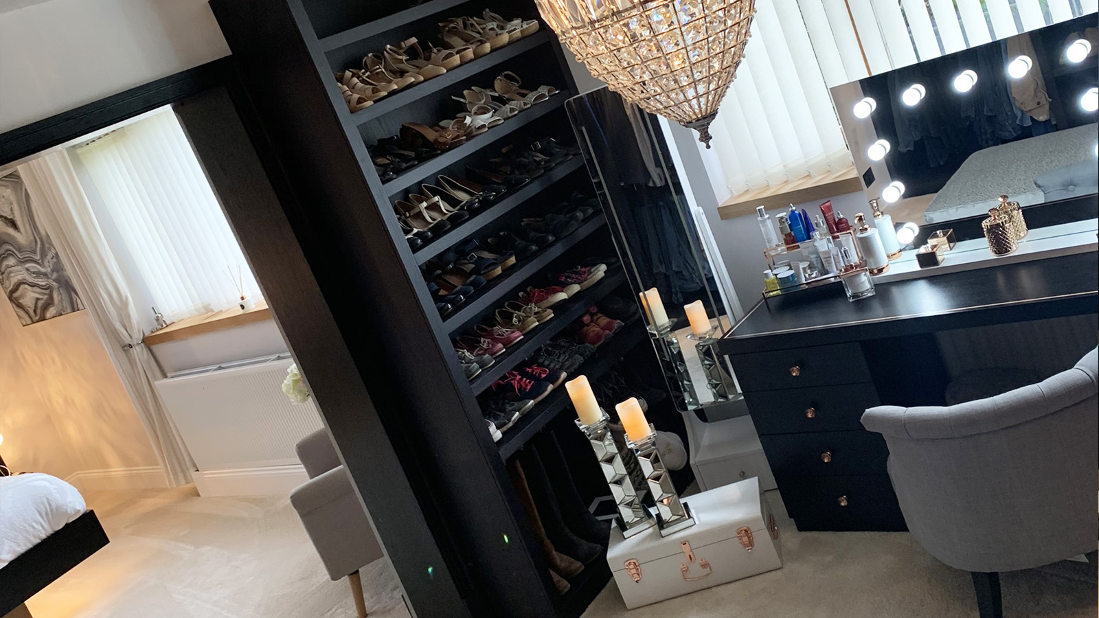 Bespoke shoe storage shelving