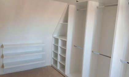 Bedroom storage installation
