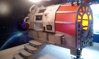 Bespoke spaceship bed