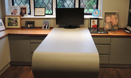 Bespoke home office desk and storage Folkestone Kent
