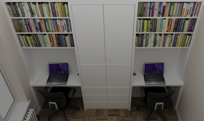 home office for 2 people