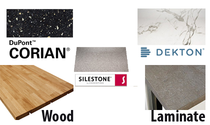 Corian, Silestone, Dekton Worktop suppliers