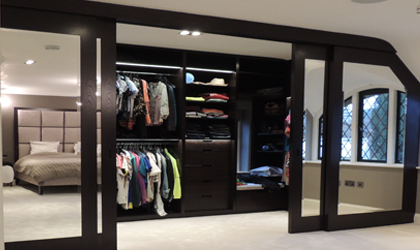 Bespoke bedroom fitted wardrobes in Folkestone, Kent and London