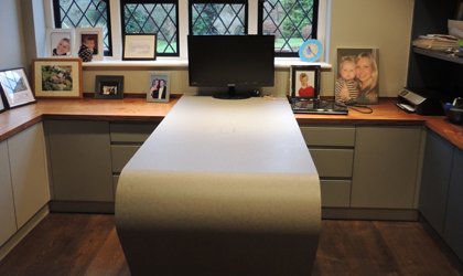 Bespoke home office storage and desk in Kent